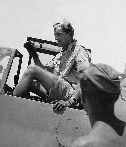 Hans Joachim Marseille German Pilot Hans-Joachim Marseille seen here in the cockpit of his fighter Messerschmitt Bf-109F-4 in Libya, he had completed 382 sorties, with 7 kills during the battle of Britain and in North Africa, he was Awarded the Knight's Cross with oak leaves, swords and diamonds, on the day of his death September 30th 1942, he was officially recorded at 158 victories with 151 in North Africa and 7 during the Battle of Britain this photo was taken on 1st June 1942.