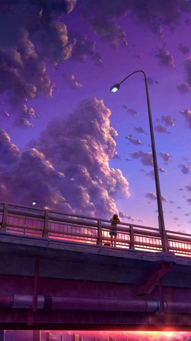 Purple Sky Wallpaper Anime Scenery Anime Scenery Wallpaper Anime Background