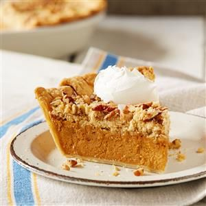 Salted Caramel Streusel Pumpkin Pie Recipe Made With Eagle Brand Caramel Flavored Sweetened Condensed Milk Pumpkin Pie Recipes Pumpkin Dessert Pumpkin Pie