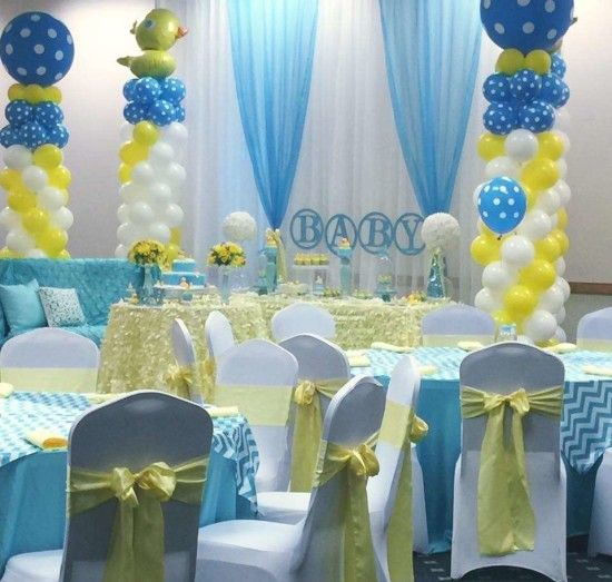 Attractive Rubber Ducky Baby Shower Guest Tables