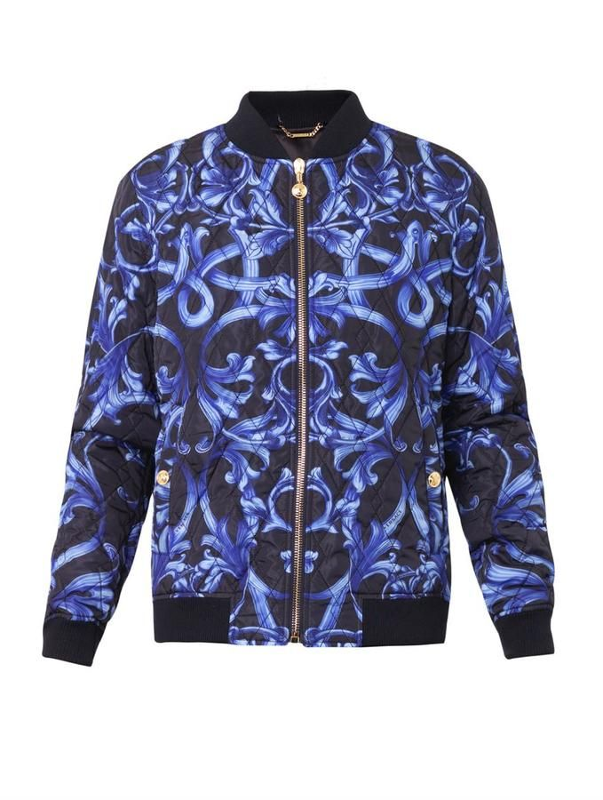 575c2c0787 Versace Baroque-print quilted bomber jacket | CLOTHING | Bomber ...
