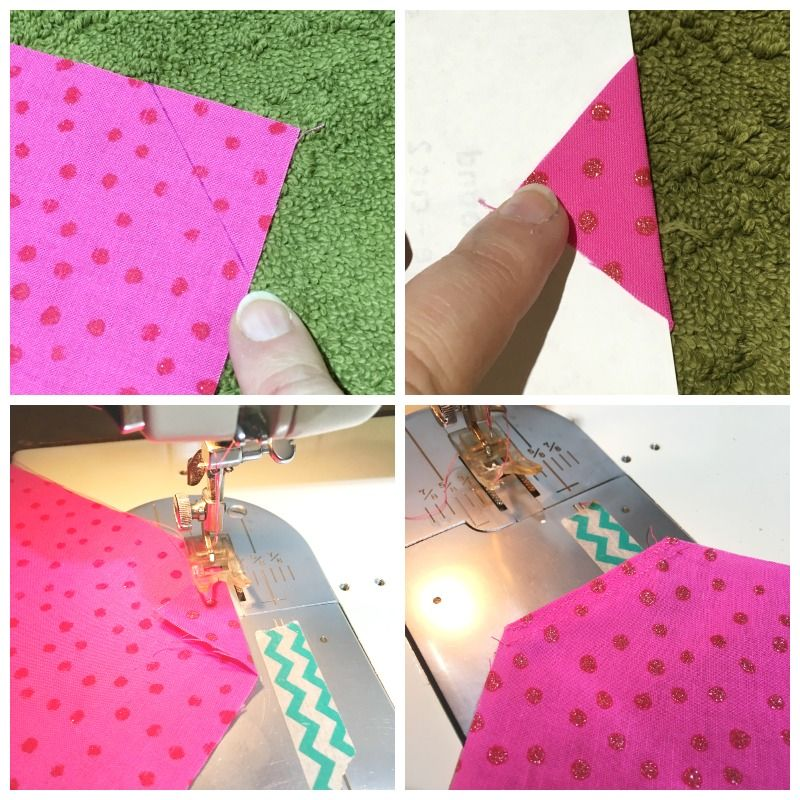 making puppy bandannas - steps 5 to 8