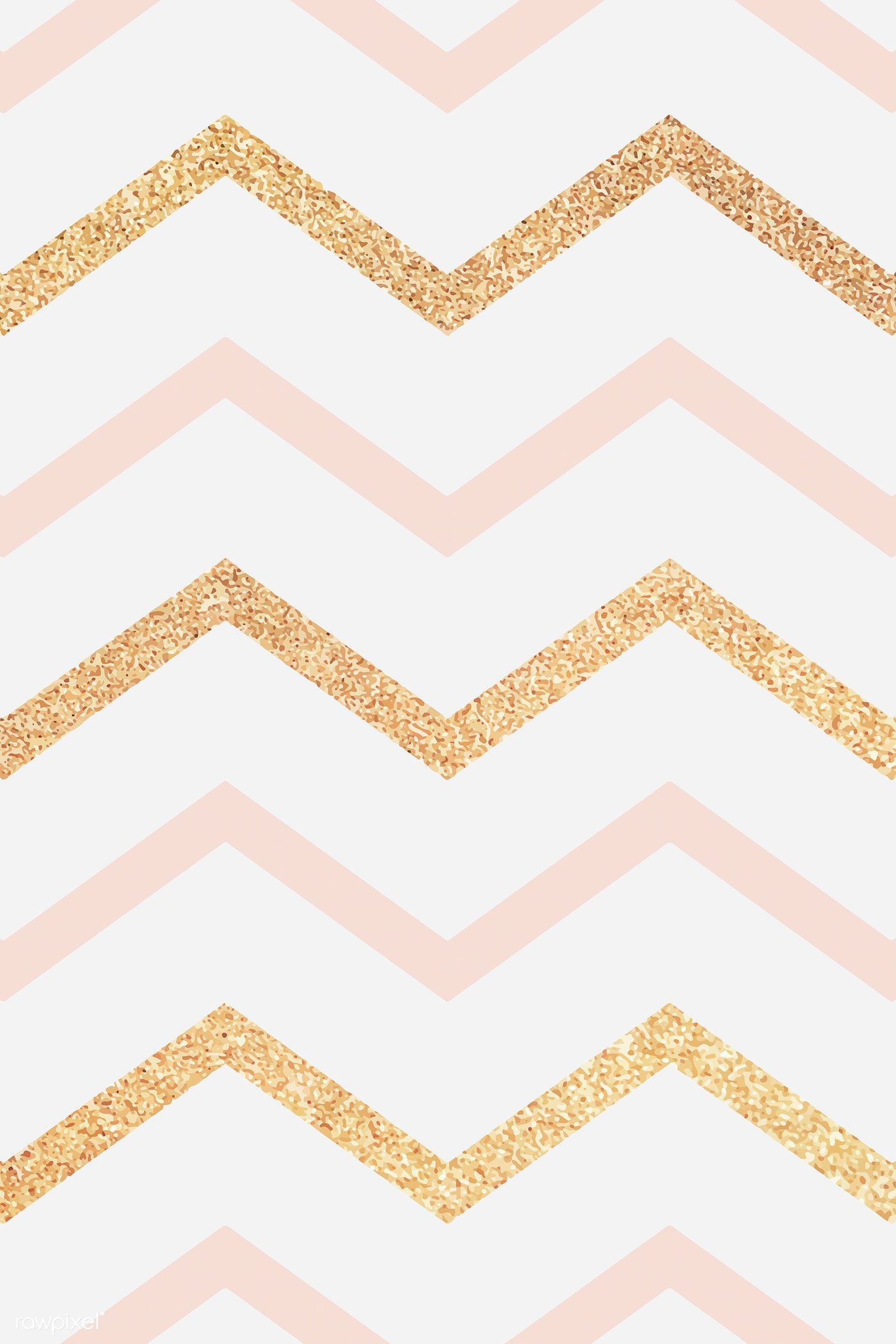 Download Premium Vector Of Pink And Gold Glittery Zigzag Patterned Gold Wallpaper Background Cute Patterns Wallpaper Background Patterns