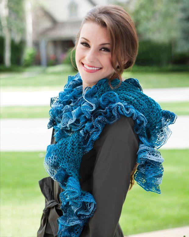 Sashay Yarn Patterns Sonata Scarf Your Knitting Life Magazine