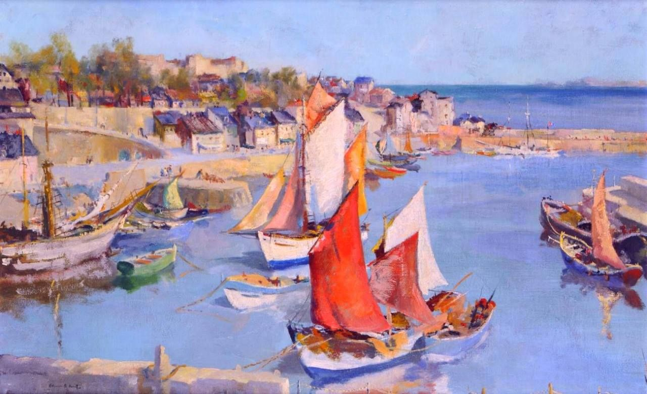 Mediterranean Harbour - Francis Russell Flint(british painter)