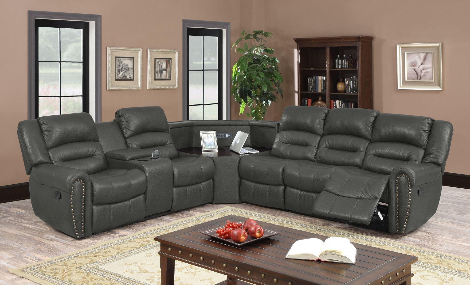 Amelia Sectional Reclining Sectional Sectional Sofa Couch