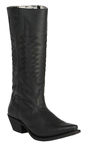 Laredo Women's Black Stovepipe Snip Toe Western Boots | Cavender's