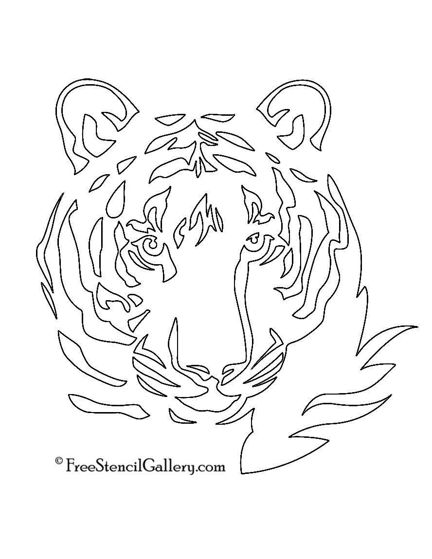 Tiger Stencil Free Stencil Gallery Tiger Stencil Stencils Silhouette Stencil