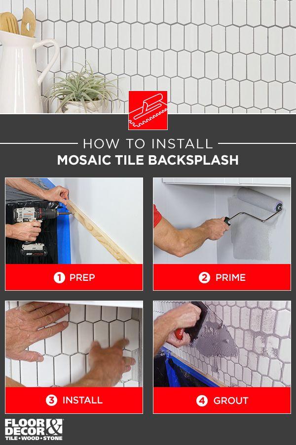 Learn How To Install A Mosaic Tile Backsplash From Floor Decor