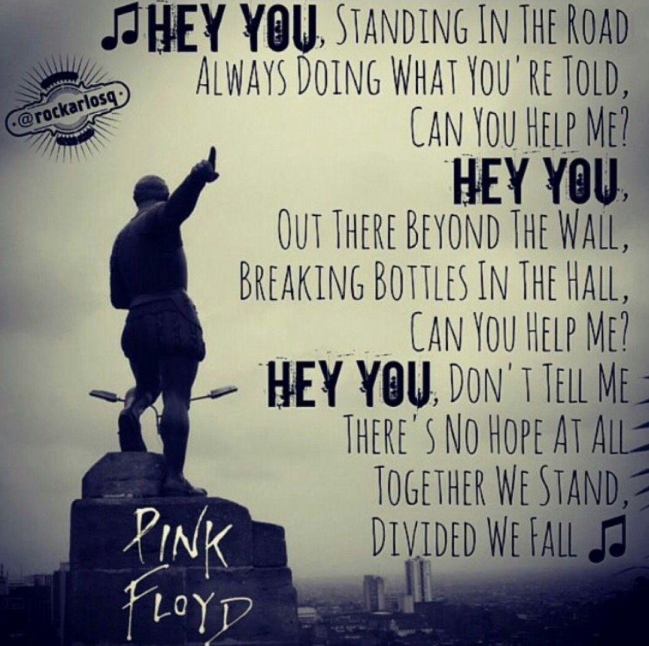 Hey You Pink Floyd Pink floyd lyrics, Pink floyd