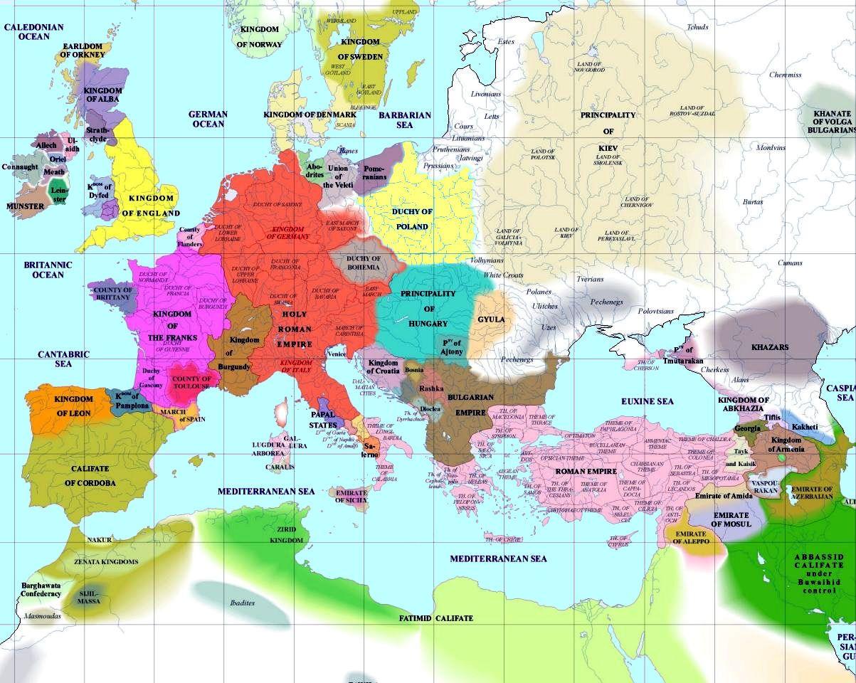 European History Map 1000 Ad European History Map History