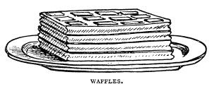Breakfast Food Clipart Black And White Graphics Mrs Beeton Pancakes Waffles Clip Art Popovers Image Vintage Clip Art Vintage Clip Art Pancakes And Waffles