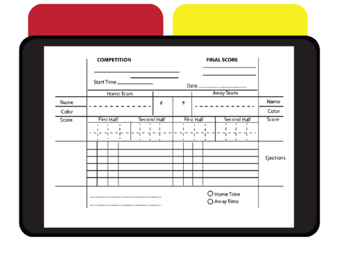 Printable Referee Score Card Free Game
