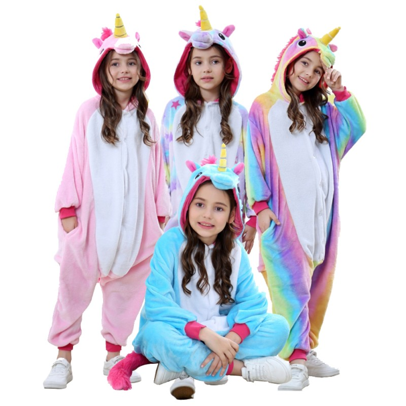 Kids Unicorn Onesie Pajama Animal Costume Outfit For Boys Girls Unicorn Onesie Pajamas Unicorn Onesie Kids Boy Outfits