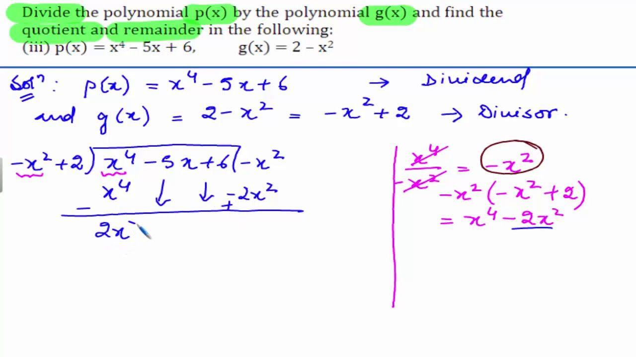 Cbse class 10 maths ncert solutions polynomials
