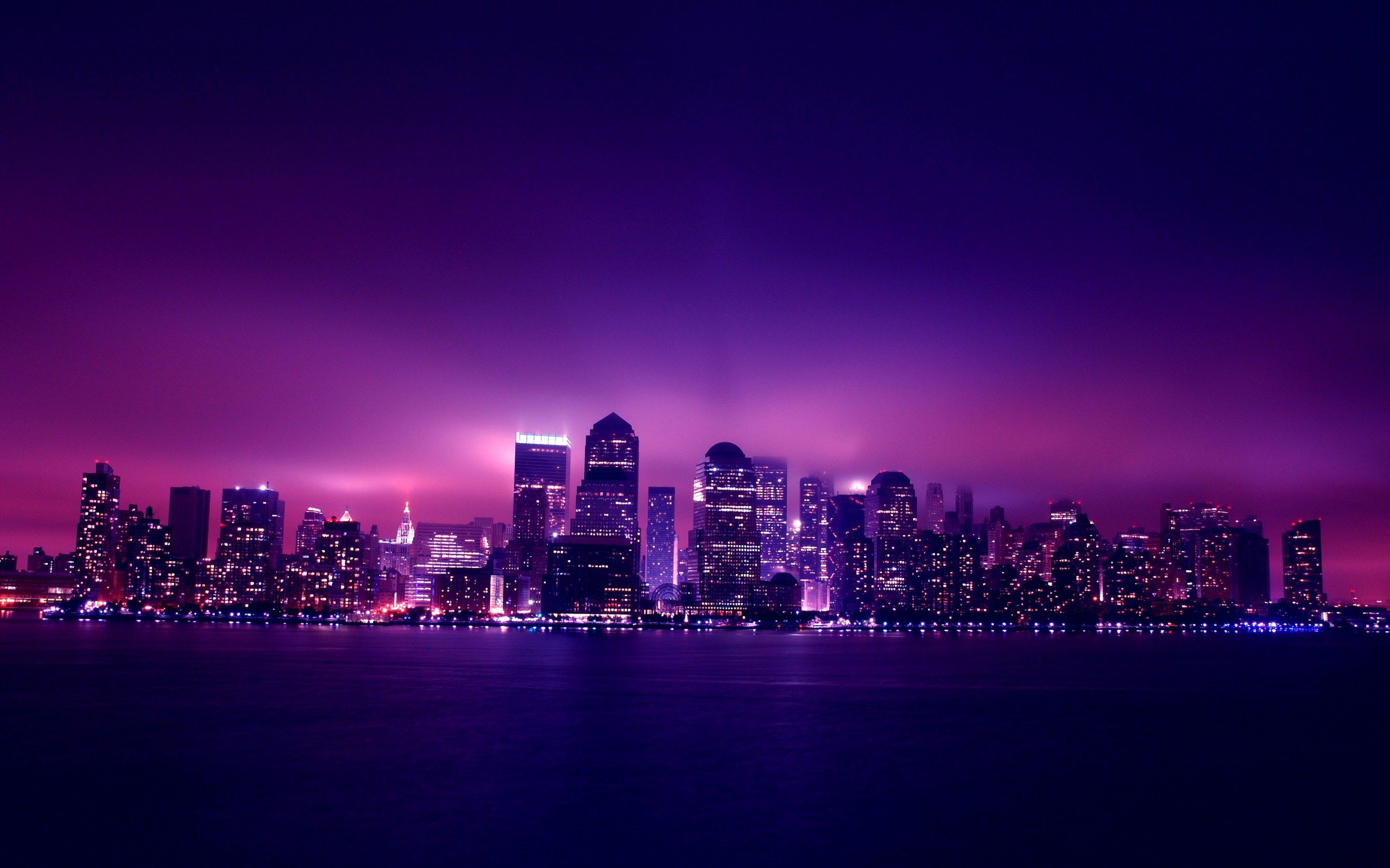 City Night Purple Purple City Night City City Wallpaper