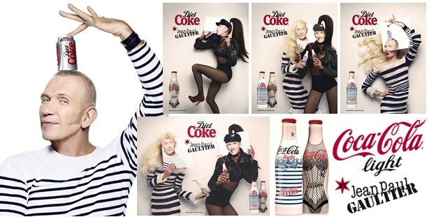Whats Poppington: Jean Paul Gaultier Designs Diet Coke » Jean-Paul-Gaultier-for-Diet-Coke-Ad-Campaign-01