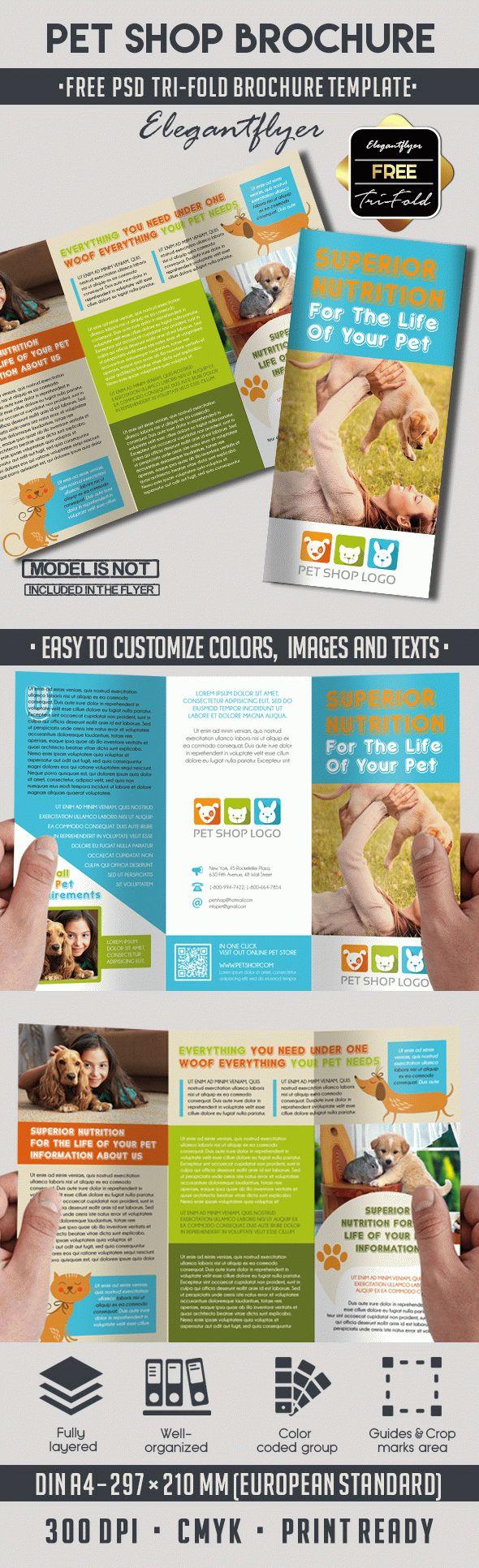 Pet Shop Free Psd Tri Fold Psd Brochure Template Brochure