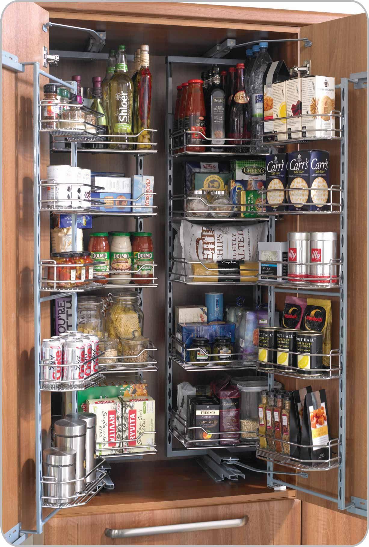 Herrajes sorano para cocinas y closet despensas torre for Alacenas para cocina