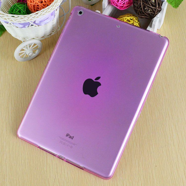 Scolour Hot Soft Gel TPU Skin Silicone Back Case Cover Silk Slim Clear Transparent Smart Back Cover for iPad mini 1 2 3 Retina
