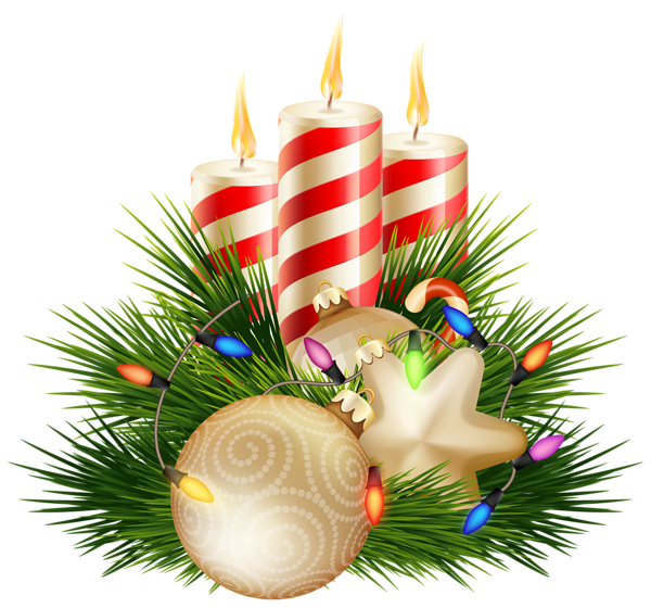 Christmas Candle Decorative PNG Clipart Image | Christmas Clip Art ...