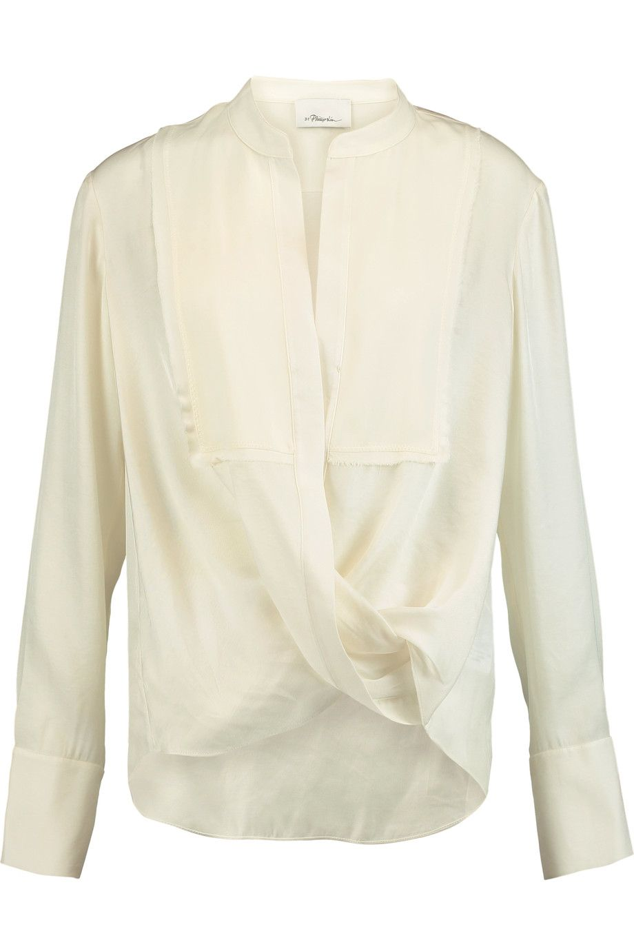 Outlet Countdown Package Cheap Sale How Much Wrap-effect silk-twill blouse 3.1 Phillip Lim Buy Cheap How Much DJYStnTl4