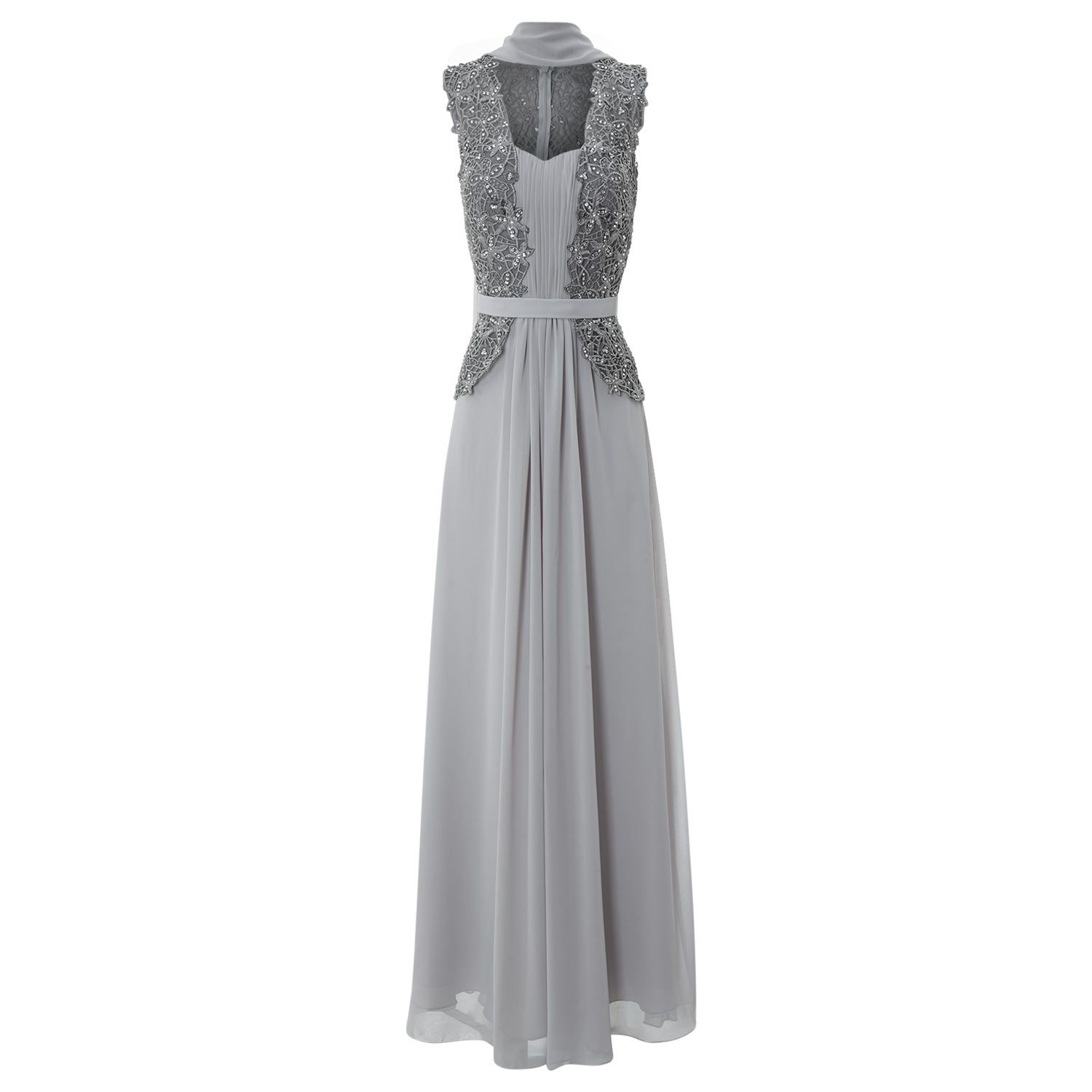 grey lace and chiffon dress for £119.99 #fabfind