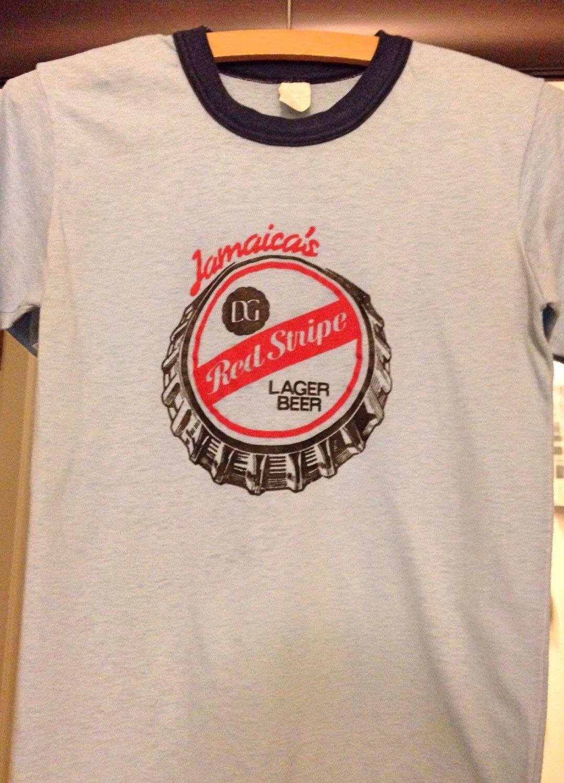 Vintage Jamaica Shirt Jamaica Red Stripe Lager Beer T Shirt Jamaica Shirt Vintage Shirts Red Stripe