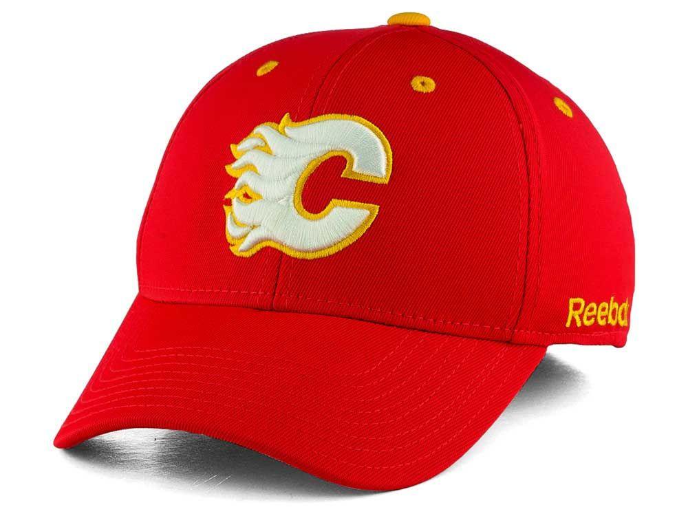 b17e0da4c2e Calgary Flames Reebok NHL JC Core Basic Flex Fit Hat