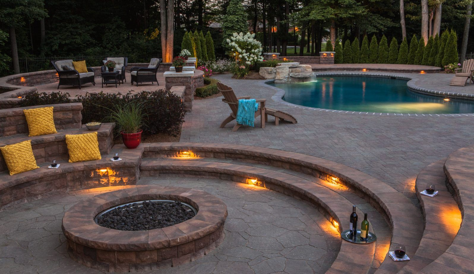 10 Dimensional Fire Pit Patio Ideas That Add Flare To Outdoor Living Design Fire Pit Patio Fire Pit Backyard Outdoor Fire