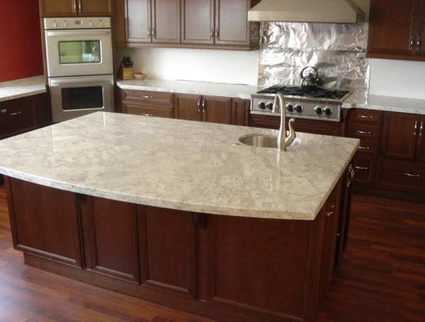 Cream Colored Granite Countertops With