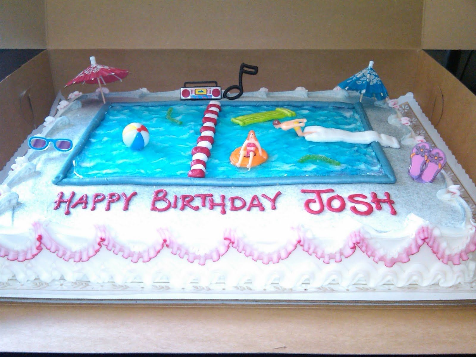 Swim Party Cakes To Twitter Share To Facebook Labels