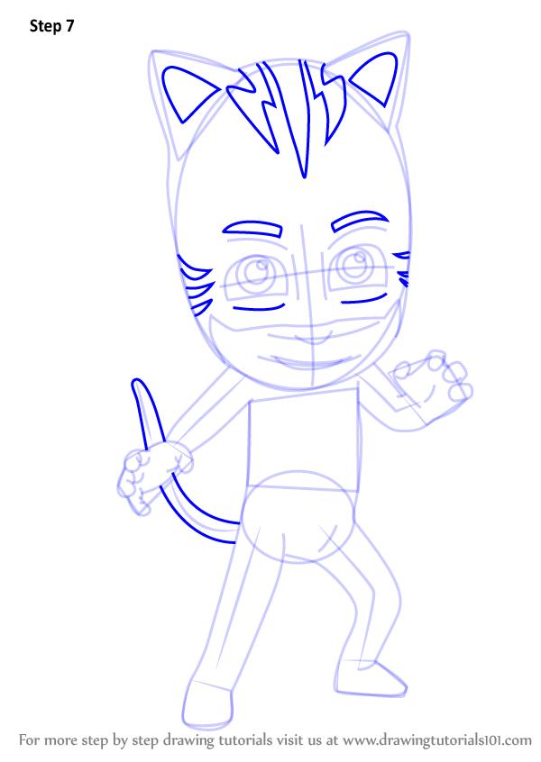 How To Draw Catboy From PJ Masks   DrawingTutorials101.com