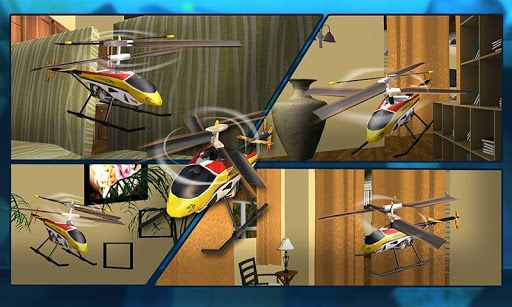 Grab remote control for helicopter flying inside apartment ...