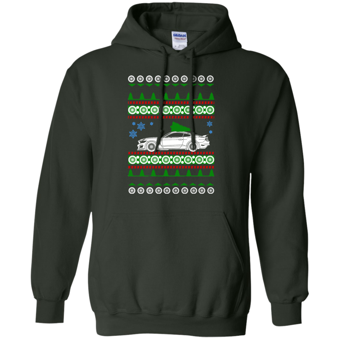 Ford Mustang Shelby Gt350r Ugly Christmas Sweater Hoodie Products
