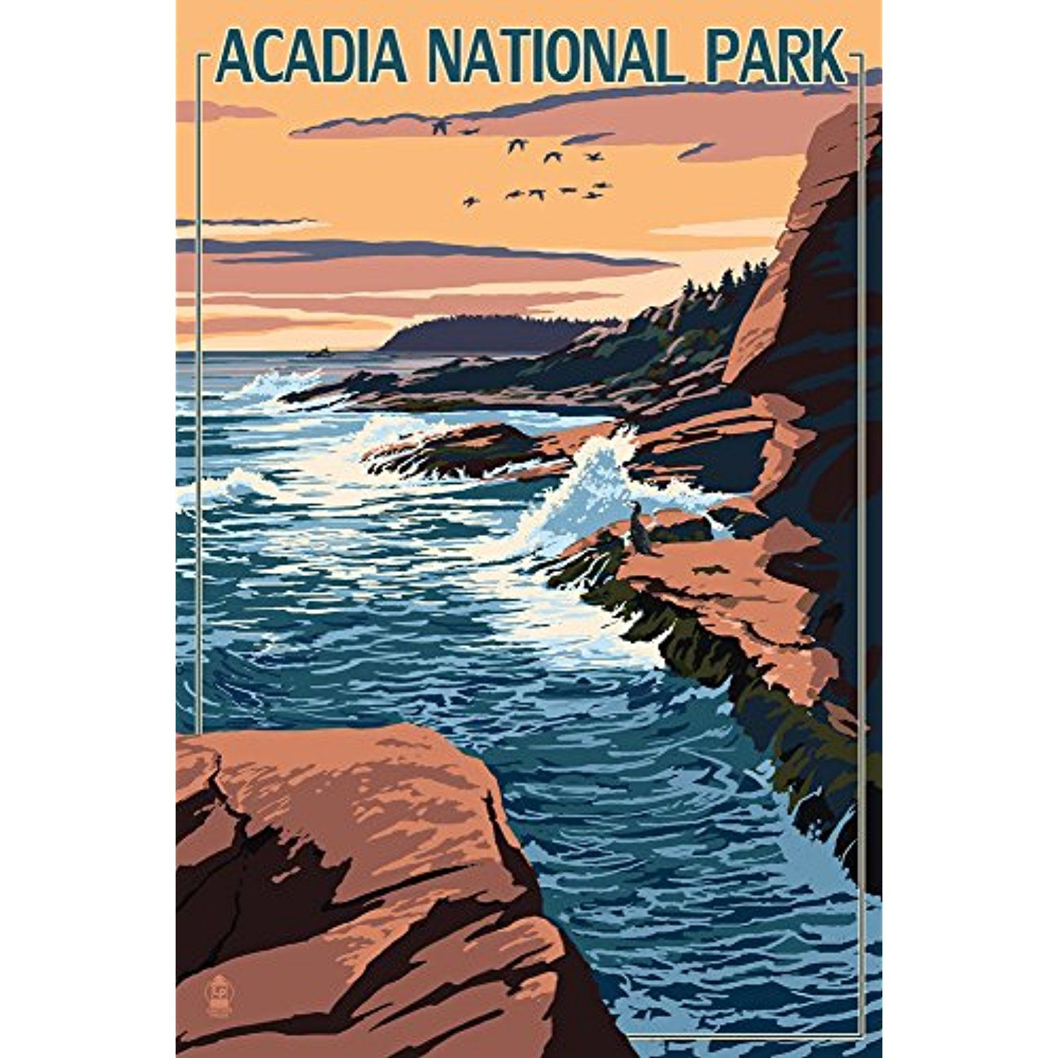 Acadia National Park Maine Mount Desert Island 12x18 Signed Print Master Art Print W Certificate Of Authenticity Wall Art Art Masters Wall Art