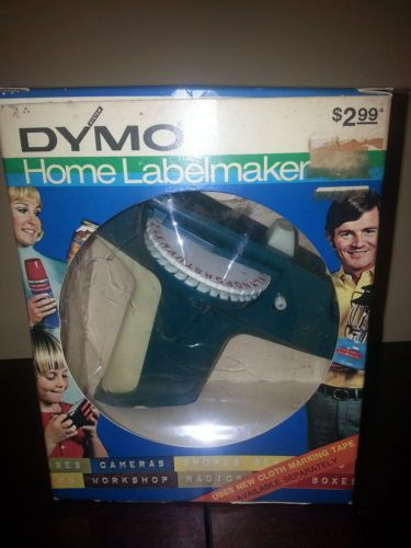 Vintage 1972 Dymo Home Label Maker Model 1800 Blue w Box Excellent Condition   eBay