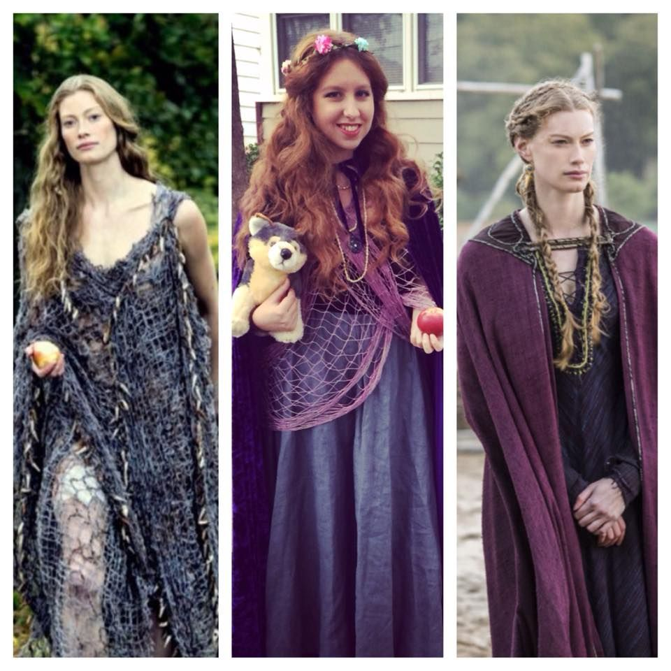 my halloween costume as princess aslaug from history channel's
