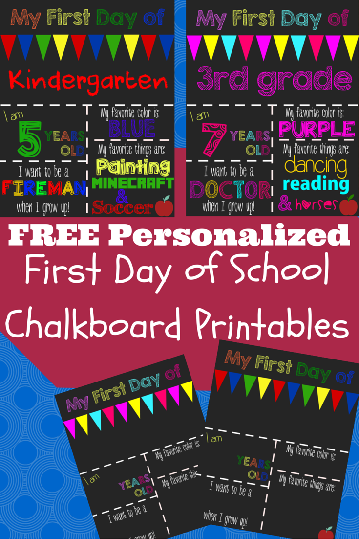 graphic about Free Printable Back to School Signs named Personalize this cost-free printable chalkboard indicator for your baby
