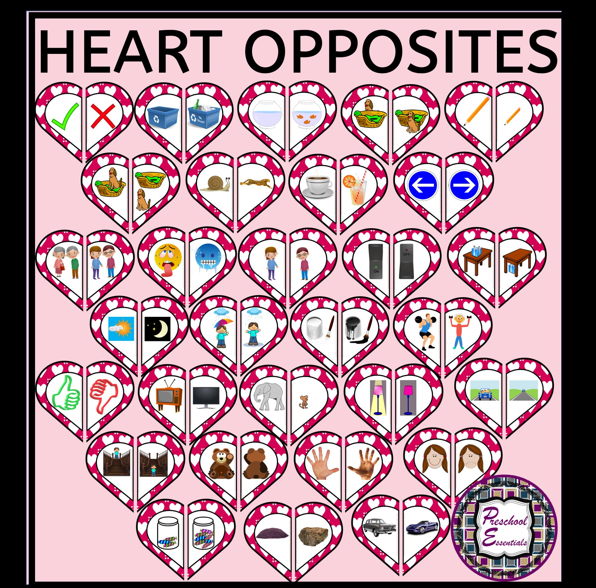 Valentine S Heart Opposites