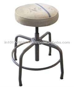 Vintage Industrial Bar Stool Adjustable