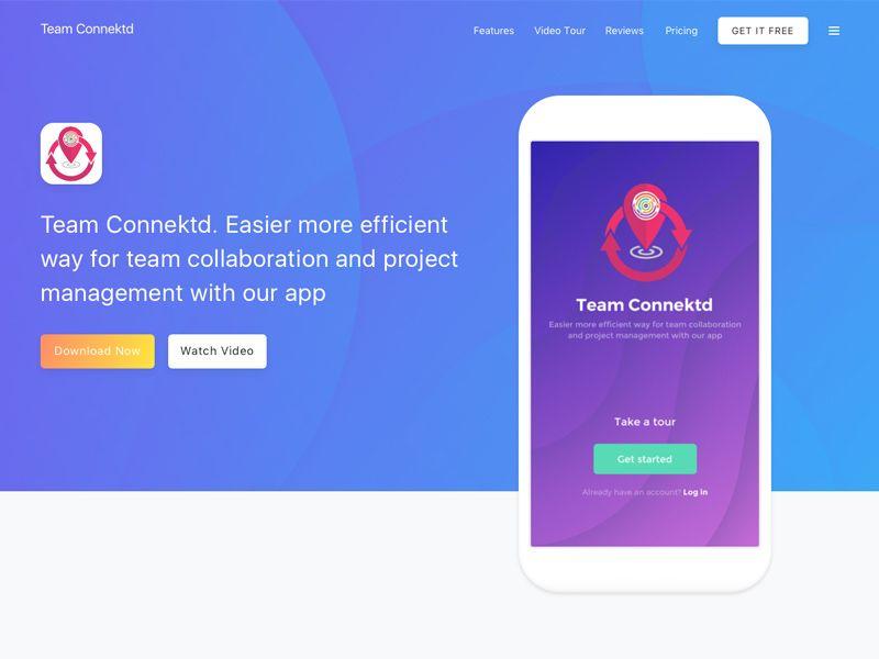 Team connektd collaboration application collaboration
