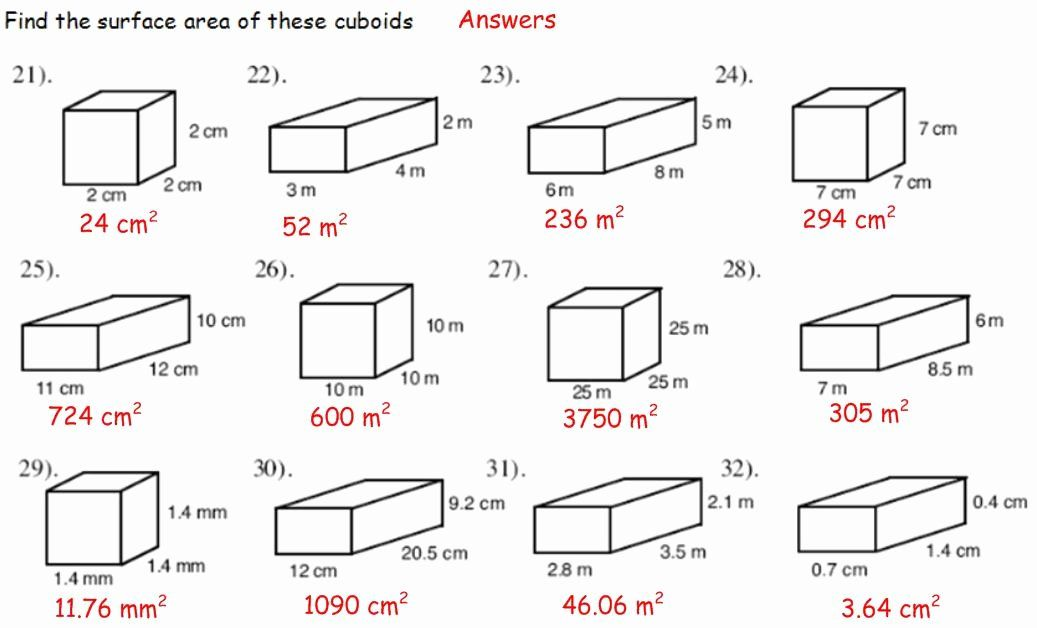how to surface area