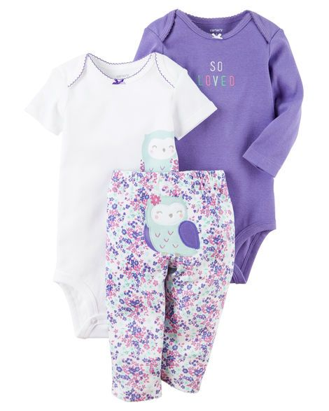 0997eef9a Baby Girl 3-Piece Little Character Set from Carters.com. Shop clothing &  accessories from a trusted name in kids, toddlers, and baby clothes.
