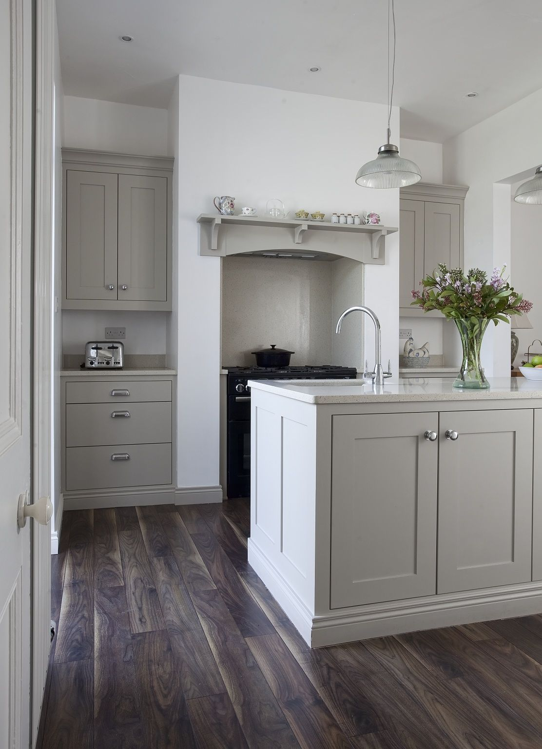 farrow and ball kitchen cabinet colors Colour Study: Farrow and Ball Hardwick White | Kitchen