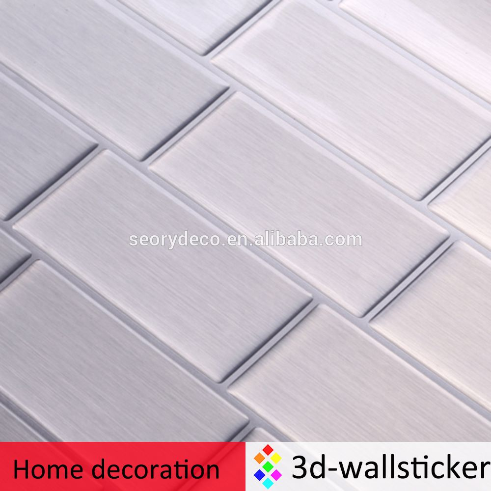 Factory wholesale peel and impress adhesive vinyl tile backsplash ...