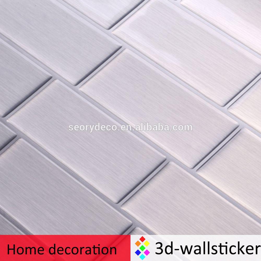 Factory Wholesale Peel And Impress Adhesive Vinyl Tile Backsplash