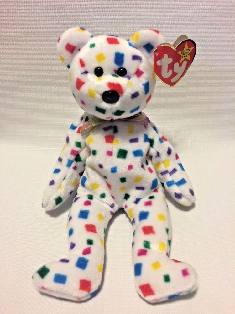 c79b3261b56 NWT RARE  Ty 2K  Bear Beanie Baby w  Flat Flush tag   Errors  TY