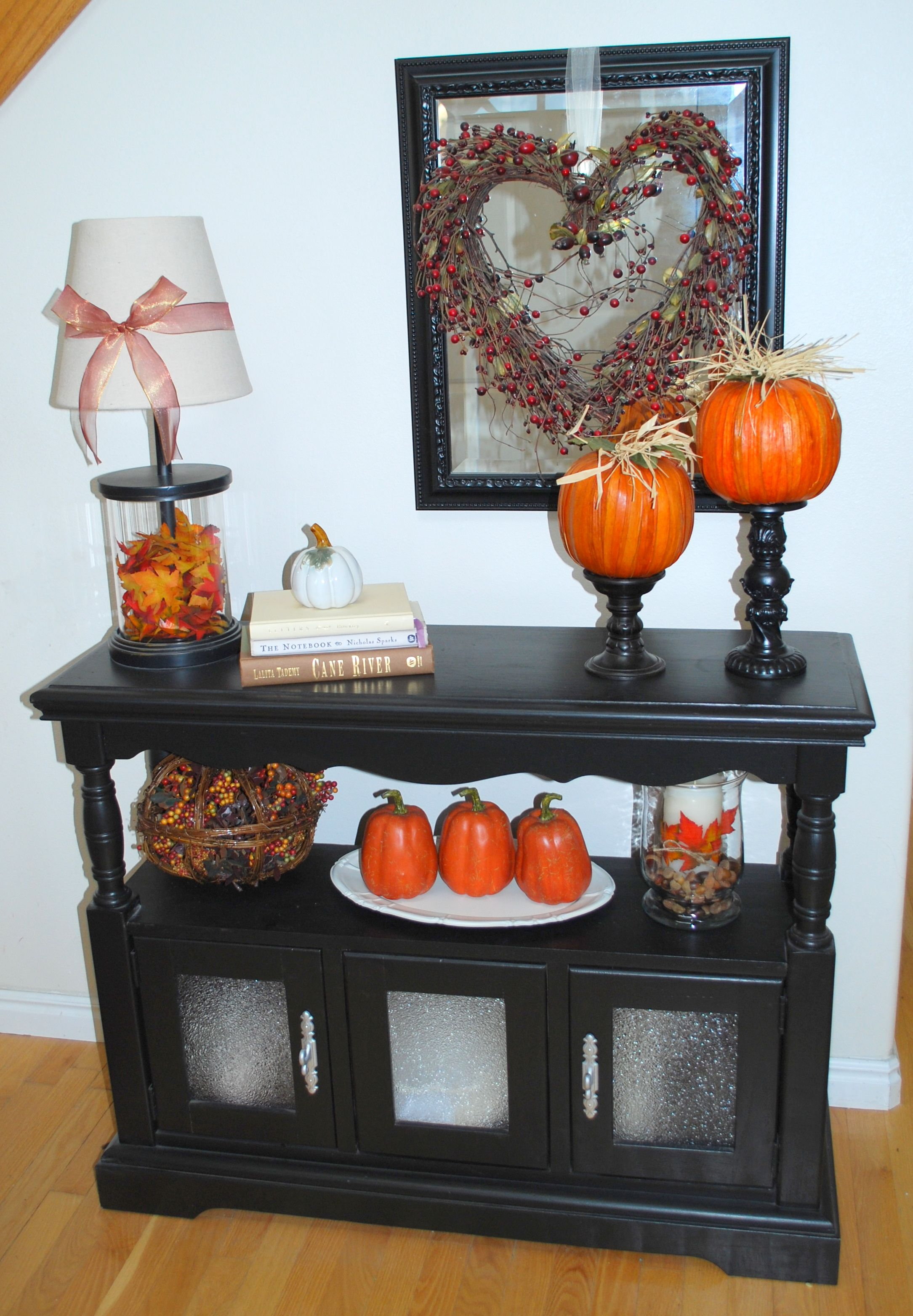 fall entry table decorating ideas fall entry table fall decor - fall and halloween decorations