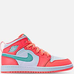 bd6c4254d697 Girls  Preschool Air Jordan 1 Mid Basketball Shoes